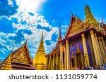 wat pra keaw  the emerald... | Shutterstock . vector #1131059774