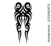 tribal tattoo pattern  vector... | Shutterstock .eps vector #1131062471