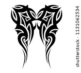 tribal pattern tattoos art... | Shutterstock .eps vector #1131062534