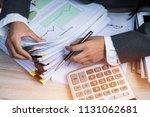 accountant business woman... | Shutterstock . vector #1131062681