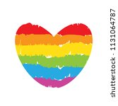 lgbt rainbow drawing heart on... | Shutterstock .eps vector #1131064787