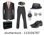 illustration of business man... | Shutterstock .eps vector #113106787