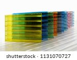colorful polycarbonate sheets | Shutterstock . vector #1131070727