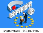 copyright european regulation.... | Shutterstock .eps vector #1131071987