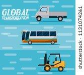 global transportation concept | Shutterstock .eps vector #1131074261