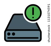 disk drive warning | Shutterstock .eps vector #1131074591