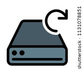 refresh disk drive | Shutterstock .eps vector #1131078851