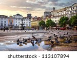 panorama of rossio square in... | Shutterstock . vector #113107894