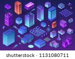 isometric set of ultraviolet... | Shutterstock .eps vector #1131080711