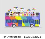 lgbtq parade. homosexuality.... | Shutterstock .eps vector #1131083021