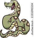 happy cartoon boa constrictor... | Shutterstock .eps vector #1131090104