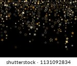 trendy gold star dust sparkle... | Shutterstock .eps vector #1131092834