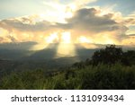 dramatic god lights passing... | Shutterstock . vector #1131093434