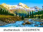 mountain river valley landscape.... | Shutterstock . vector #1131094574
