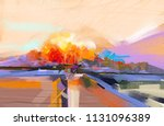 abstract oil painting landscape.... | Shutterstock . vector #1131096389