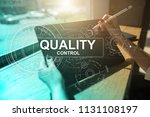 quality assurance. control and... | Shutterstock . vector #1131108197