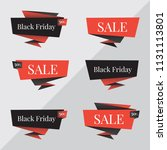 black friday sale banner. black ... | Shutterstock .eps vector #1131113801