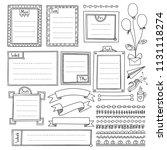 bullet journal hand drawn... | Shutterstock .eps vector #1131118274