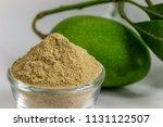 dry raw mango powder   indian... | Shutterstock . vector #1131122507