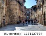 san gimignano  italy  ... | Shutterstock . vector #1131127934