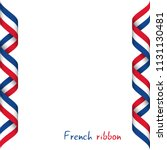 colored ribbon with the french... | Shutterstock . vector #1131130481