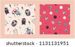 playful cute patterns for kids. | Shutterstock .eps vector #1131131951