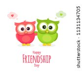 happy friendship day  holiday... | Shutterstock .eps vector #1131134705