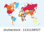 color world map vector   Shutterstock .eps vector #1131138527