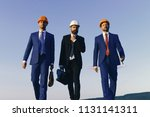 architects with strict faces in ... | Shutterstock . vector #1131141311
