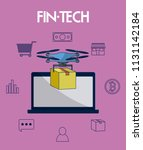financial technology concept | Shutterstock .eps vector #1131142184