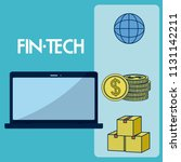 financial technology concept | Shutterstock .eps vector #1131142211