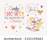 baby shower elements template... | Shutterstock .eps vector #1131145661