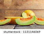 slice of thai melons or... | Shutterstock . vector #1131146069