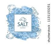watercolor background with salt ... | Shutterstock .eps vector #1131153251