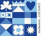 white  blue  navy geometric...   Shutterstock .eps vector #1131154871