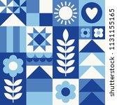 white  blue  navy geometric...   Shutterstock .eps vector #1131155165