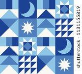 white  blue  navy geometric...   Shutterstock .eps vector #1131155819