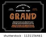 original handmade alphabet....   Shutterstock .eps vector #1131156461