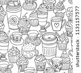 hand drawn coloring page with...   Shutterstock .eps vector #1131157577