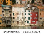 traditional color facades in... | Shutterstock . vector #1131162575