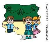color happy children students... | Shutterstock .eps vector #1131162941