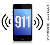 emergency number 911 call...   Shutterstock . vector #113116375