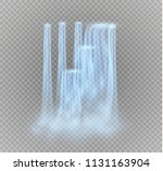 waterfall  isolated on... | Shutterstock .eps vector #1131163904