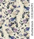seamless summer pattern with... | Shutterstock . vector #1131164291