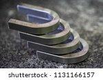 bend test specimen after...   Shutterstock . vector #1131166157