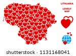 lovely lithuania map collage of ... | Shutterstock .eps vector #1131168041