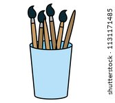 color art paintbrushes objects... | Shutterstock .eps vector #1131171485