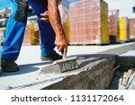 industrial worker on... | Shutterstock . vector #1131172064