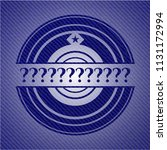 question mark emblem with denim ... | Shutterstock .eps vector #1131172994