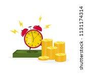 time is money concept....   Shutterstock .eps vector #1131174314